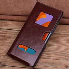Handytasche Schutzhülle Flip Leder Hülle T05 für Huawei Mate Xs 5G Braun