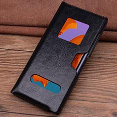 Handytasche Schutzhülle Flip Leder Hülle T05 für Huawei Mate Xs 5G Schwarz
