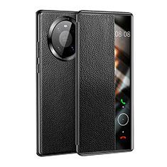 Handytasche Stand Schutzhülle Flip Leder Hülle F01 für Huawei Mate 40 Schwarz
