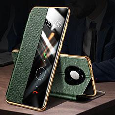 Handytasche Stand Schutzhülle Flip Leder Hülle F02 für Huawei Mate 40 Grün