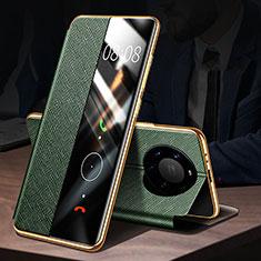 Handytasche Stand Schutzhülle Flip Leder Hülle F02 für Huawei Mate 40 Pro+ Plus Grün