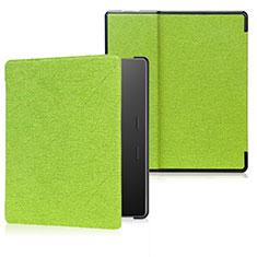 Handytasche Stand Schutzhülle Flip Leder Hülle für Amazon Kindle Oasis 7 inch Grün