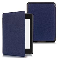 Handytasche Stand Schutzhülle Flip Leder Hülle für Amazon Kindle Paperwhite 6 inch Blau