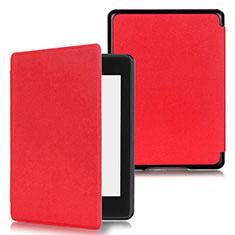 Handytasche Stand Schutzhülle Flip Leder Hülle für Amazon Kindle Paperwhite 6 inch Rot