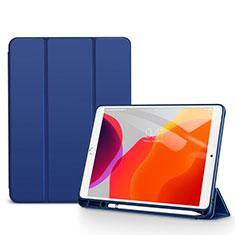 Handytasche Stand Schutzhülle Flip Leder Hülle für Apple iPad 10.2 (2020) Blau