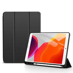 Handytasche Stand Schutzhülle Flip Leder Hülle für Apple iPad 10.2 (2020) Schwarz