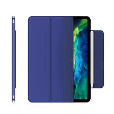 Handytasche Stand Schutzhülle Flip Leder Hülle für Apple iPad Pro 12.9 (2020) Blau