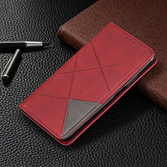 Handytasche Stand Schutzhülle Flip Leder Hülle für Google Pixel 4a 5G Rot