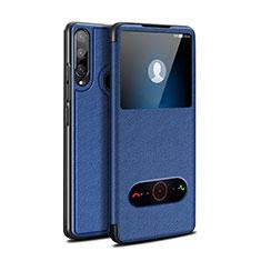 Handytasche Stand Schutzhülle Flip Leder Hülle für Huawei Enjoy 10 Plus Blau