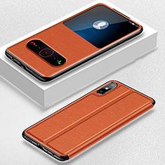 Handytasche Stand Schutzhülle Flip Leder Hülle für Huawei Enjoy 10e Orange