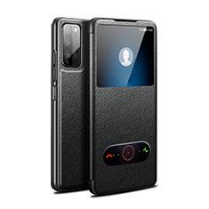 Handytasche Stand Schutzhülle Flip Leder Hülle für Huawei Honor 30 Lite 5G Schwarz