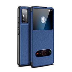 Handytasche Stand Schutzhülle Flip Leder Hülle für Huawei Honor X10 Max 5G Blau