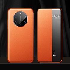 Handytasche Stand Schutzhülle Flip Leder Hülle für Huawei Mate 40 RS Orange