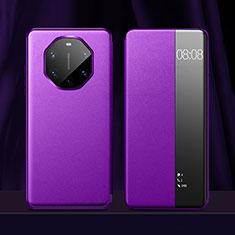 Handytasche Stand Schutzhülle Flip Leder Hülle für Huawei Mate 40 RS Violett
