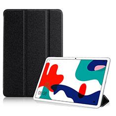 Handytasche Stand Schutzhülle Flip Leder Hülle für Huawei MatePad 10.4 Schwarz