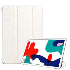 Handytasche Stand Schutzhülle Flip Leder Hülle für Huawei MatePad 10.4 Weiß