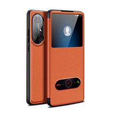 Handytasche Stand Schutzhülle Flip Leder Hülle für Huawei Nova 8 Pro 5G Braun