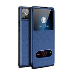 Handytasche Stand Schutzhülle Flip Leder Hülle für Huawei Nova 8 SE 5G Blau
