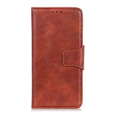 Handytasche Stand Schutzhülle Flip Leder Hülle für Huawei Y5p Braun
