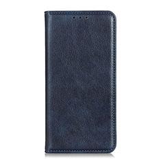 Handytasche Stand Schutzhülle Flip Leder Hülle für Huawei Y8p Blau