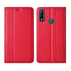 Handytasche Stand Schutzhülle Flip Leder Hülle für Huawei Y8s Rot