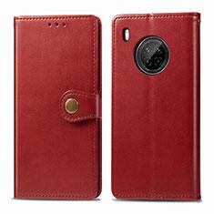 Handytasche Stand Schutzhülle Flip Leder Hülle für Huawei Y9a Rot