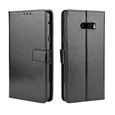 Handytasche Stand Schutzhülle Flip Leder Hülle für LG G8X ThinQ Schwarz