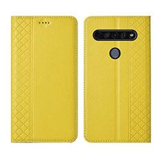 Handytasche Stand Schutzhülle Flip Leder Hülle für LG K41S Gelb
