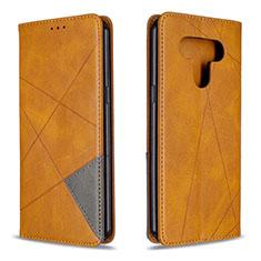 Handytasche Stand Schutzhülle Flip Leder Hülle für LG K51 Gelb