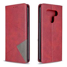 Handytasche Stand Schutzhülle Flip Leder Hülle für LG K51 Rot