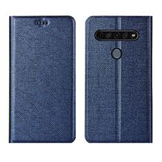 Handytasche Stand Schutzhülle Flip Leder Hülle für LG K51S Blau