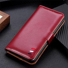 Handytasche Stand Schutzhülle Flip Leder Hülle für LG K52 Fuchsie