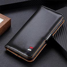 Handytasche Stand Schutzhülle Flip Leder Hülle für LG K52 Schwarz