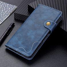Handytasche Stand Schutzhülle Flip Leder Hülle für LG K92 5G Blau