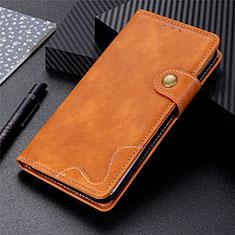 Handytasche Stand Schutzhülle Flip Leder Hülle für LG K92 5G Braun