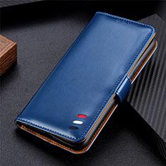 Handytasche Stand Schutzhülle Flip Leder Hülle für LG Q52 Blau