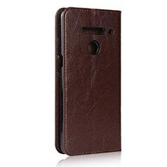 Handytasche Stand Schutzhülle Flip Leder Hülle für LG V50 ThinQ 5G Braun