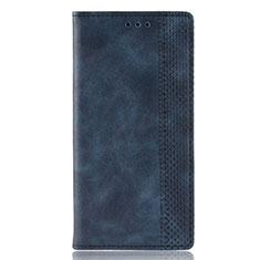 Handytasche Stand Schutzhülle Flip Leder Hülle für Motorola Moto E6s (2020) Blau