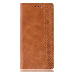 Handytasche Stand Schutzhülle Flip Leder Hülle für Motorola Moto E6s (2020) Orange