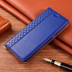 Handytasche Stand Schutzhülle Flip Leder Hülle für Motorola Moto E7 Plus Blau