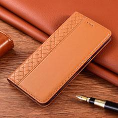 Handytasche Stand Schutzhülle Flip Leder Hülle für Motorola Moto E7 Plus Orange