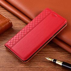Handytasche Stand Schutzhülle Flip Leder Hülle für Motorola Moto E7 Plus Rot