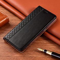Handytasche Stand Schutzhülle Flip Leder Hülle für Motorola Moto E7 Plus Schwarz
