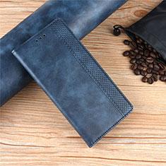 Handytasche Stand Schutzhülle Flip Leder Hülle für Motorola Moto Edge Blau