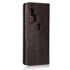 Handytasche Stand Schutzhülle Flip Leder Hülle für Motorola Moto Edge Plus Braun