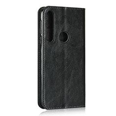 Handytasche Stand Schutzhülle Flip Leder Hülle für Motorola Moto G8 Play Schwarz