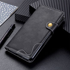 Handytasche Stand Schutzhülle Flip Leder Hülle für Motorola Moto G9 Plus Schwarz