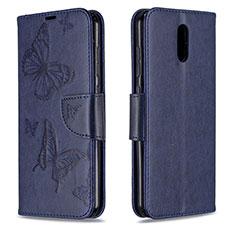 Handytasche Stand Schutzhülle Flip Leder Hülle für Nokia 2.3 Blau