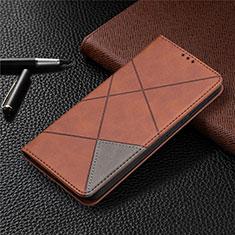 Handytasche Stand Schutzhülle Flip Leder Hülle für Nokia 3.4 Braun