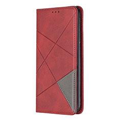 Handytasche Stand Schutzhülle Flip Leder Hülle für Nokia 5.3 Rot